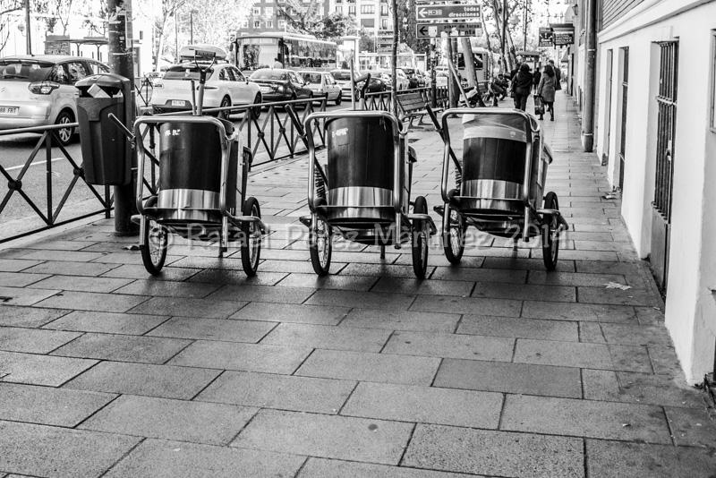 tres carritos de la basura, fotos rafael pérez